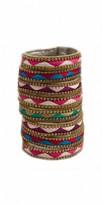 Camille La Vie Embroidered Multi Color Bracelet