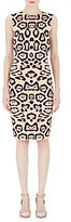 Givenchy WOMEN'S LEOPARD COMPACT KNIT SHEATH DRESS-PINK SIZE M
