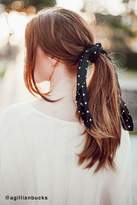 Urban Outfitters Polka Dot Silky Mini Square Scarf