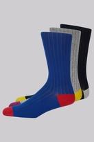 Ted Baker Multi Heel & Toe 3 Pack Sock Gift Box