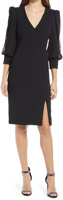 Eliza J Balloon Sleeve Cocktail Dress