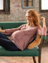 A Pea in the Pod Daniel Rainn Embroidery Maternity Blouse