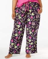 Hue Plus Size Salad Days Printed Pajama Pants