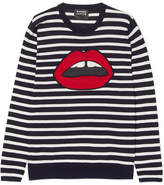 Markus Lupfer Lara Striped Cotton Sweater - Navy