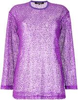 Junya Watanabe Comme Des Garçons net detail sweatshirt