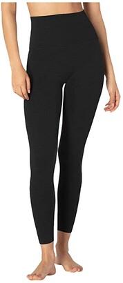 Beyond Yoga Heather Rib High Waisted Midi Leggings (Blue Horizon Heather) Women's Casual Pants
