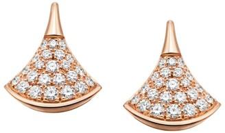 Bvlgari Rose Gold and Pave Diamond Divas' Dream Earrings