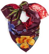Echo Baroque Botanical Silk Scarf