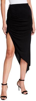 Helmut Lang Draped Drawstring Skirt