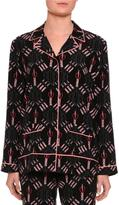 Valentino Love Blade Pajama Top, Black