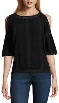 Buffalo David Bitton JEANS i jeans by Lace Trim Cold Shoulder Top