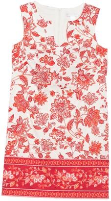 London Times Floral Sleeveless Mini Shift Dress