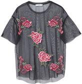 MANGO Roses tulle t-shirt