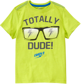 Crazy 8 Wild Lime Green 'Totally Dude' Glasses Tee - Boys