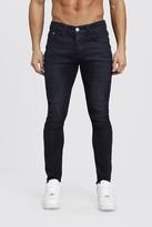 boohoo Mens Black Skinny Stretch Jeans, Black