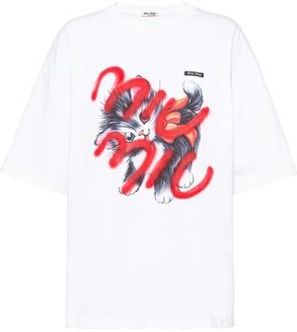Miu Miu logo-print T-shirt