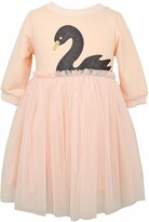 Popatu Glitter Swan Tulle Dress