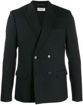 Saint Laurent Double Breasted Pinstripe Suit Jacket