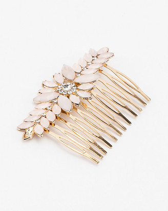 Le Château Gem Flower & Leaf Hair Comb