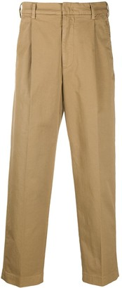 Barena Pleat-Detail Cropped Trousers