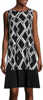Ronni Nicole RN Studio by Sleeveless Print Shift Dress