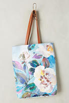 Anthropologie Painted Florals Tote