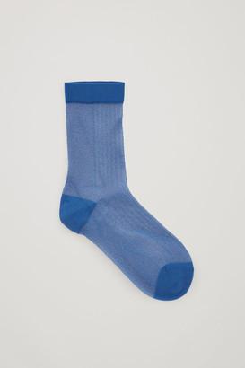 Cos Sheer Lurex Ankle Socks