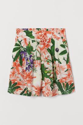 H&M Shorts High Waist - Orange