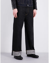 Junya Watanabe Turn-up Cuff Wide-leg High-rise Jeans