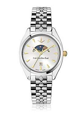 LUCIEN ROCHAT Womens Moon Phase Quartz Watch with Stainless Steel Strap R0453110504