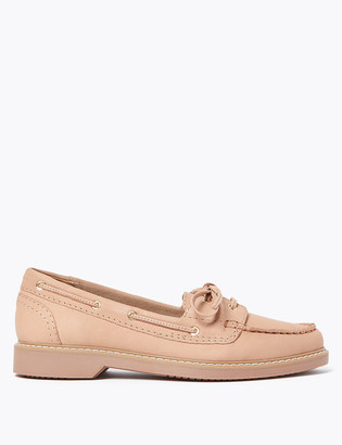 Marks and Spencer Suede Lace Detail Boat Shoes