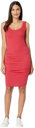 LAmade Nora 2x1 Modal Stretch Rib Dress (American Beauty) Women's Clothing