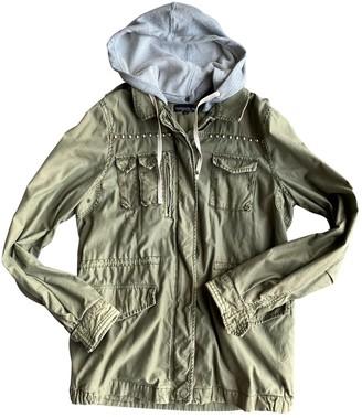 Topshop Tophop Khaki Cotton Coat for Women