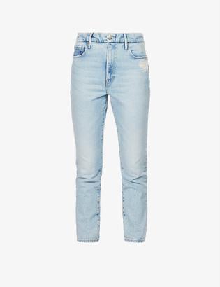 Good American Good Classic slim-fit high-rise stretch-denim jeans
