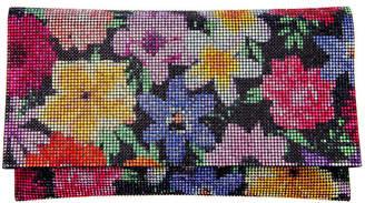 Nina Minerva Floral Print Crystal Embellished Clutch