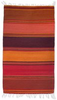 Novica Handcrafted Zapotec Wool 'Teotitlan Dusk' Rug (2x3) (Mexico)