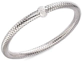 Roberto Coin 0.22 TCW Primavera Diamond & 18K White Gold Woven Bracelet