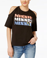 Disney Juniors' Minnie Mouse Cold-Shoulder Graphic T-Shirt