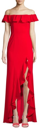 Jay Godfrey Balon Off-The-Shoulder Flounce Gown