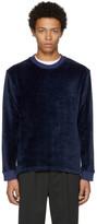 Fanmail Navy Velour Sweatshirt