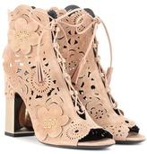 Roger Vivier Laser-cut suede sandals