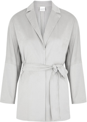 MAX MARA LEISURE Beato light grey faux suede jacket