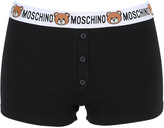Moschino Teddy Bear Logo Ribbed Cotton Shorts