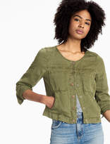 Lucky Brand Cropped Miltary Jacket