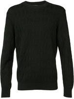 A.P.C. diamond jacquard jumper - men - Polyester/Virgin Wool - XS