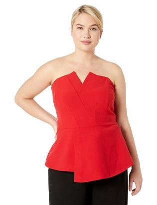 City Chic Women's Apparel Women's Plus Size Sleeveless Solid Corset TOP