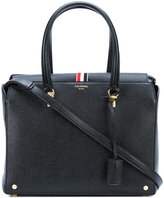 Thom Browne logo stamp tote - women - Calf Leather - One Size
