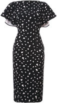 Christian Siriano printed fitted dress