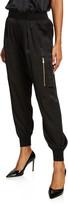 ATM Anthony Thomas Melillo Silk Cargo Pull-On Pants