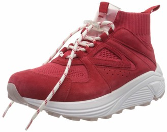 HUGO BOSS Women's Horizon_Runn_Knit_Mx Hi-Top Trainers